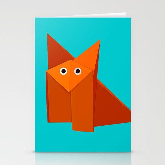 Cute Origami Fox Stationery Cards