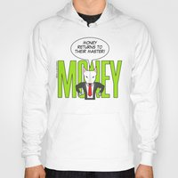 returns Hoodies featuring Money returns by English Bull Terrier Lover