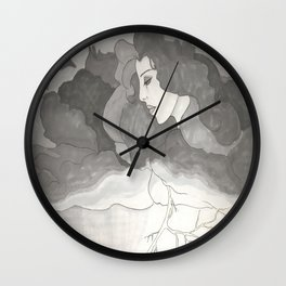 Lady Weather Wall Clock