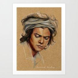 H tan paper Art Print