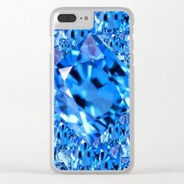 SEPTEMBER BLUE TOPAZ GEMMY  BIRTHSTONE ART Clear iPhone Case
