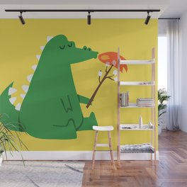 Dragon and Marshmallow Wall Mural