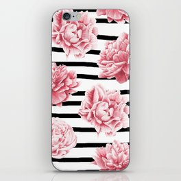 Simply Drawn Stripes and Roses iPhone Skin