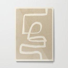 Abstract line art 72 Metal Print