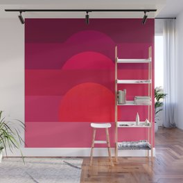 Abstraction_Sunset_001 Wall Mural