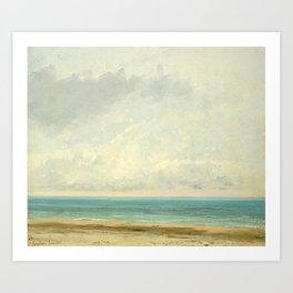 Calm Sea Oil Painting by Gustave Courbet Art Print