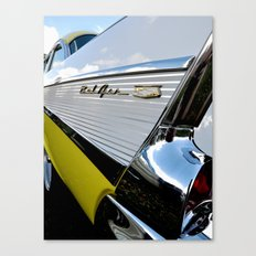 Yellow Classic American Muscle Car Belair  Canvas Print
