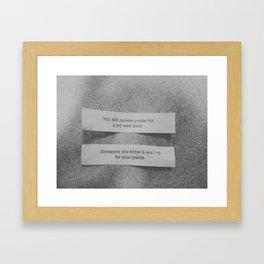 matching fortunes. Framed Art Print
