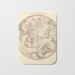 The Northern Constellations for Each Month of the Year (1856) Bath Mat
