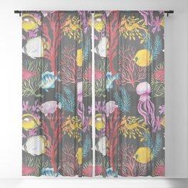 Coral Reef Deep Sea II Sheer Curtain