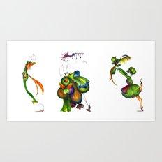 Green Aristocrats Art Print