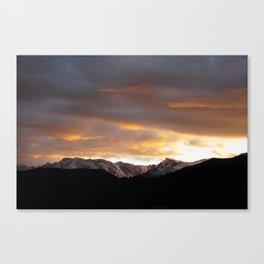 Sunset on Trail Ridge 3 Canvas Print