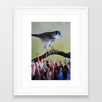 it crowd Framed Art Prints featuring Crowd by John Turck