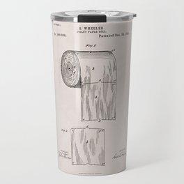 Original Toilet Paper U.S. Patent No. 465,588 by Seth Wheeler (Dec. 22, 1891) Travel Mug