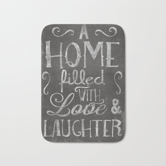 A home with laugh and laughter Bath Mat