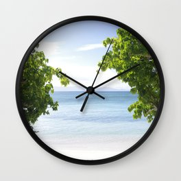 Alone on the beach Wall Clock