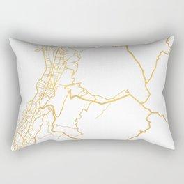 QUITO ECUADOR CITY STREET MAP ART Rectangular Pillow