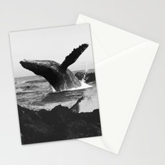 whale Wave Stationery Cards