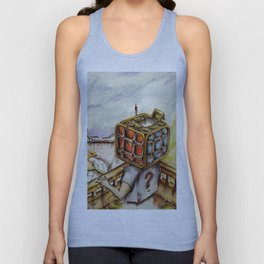 """Cubical"" Unisex Tank Top"