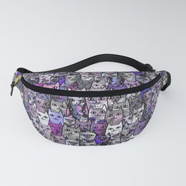 Ultraviolet Gemstone Cats Fanny Pack