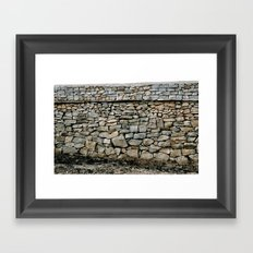 Stone Wall in Southern India (Karnataka & India & Travel) Framed Art Print