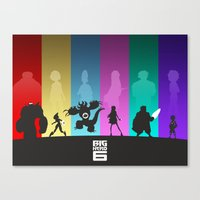 big hero 6 Canvas Prints featuring The Big Hero 6 by Travis Love