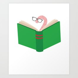 Bookworm Book Lover Book Fan Reading Books Design Art Print