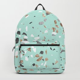 Glitter and Grit Marble Mint Green Backpack