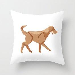 Origami Dog Throw Pillow