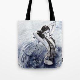 Blue Swim Tote Bag