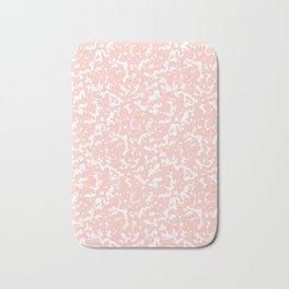 Pink and White Composition Notebook Bath Mat