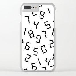 Digits Clear iPhone Case