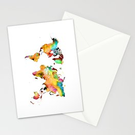 world map 71 Stationery Cards