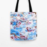 sakura Tote Bags featuring SAKURA by sametsevincer