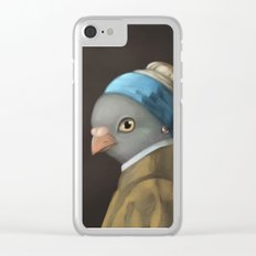The Pigeon with the Pearl Earring Clear iPhone Case