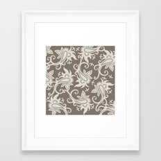 Paisley: Taupe  Framed Art Print