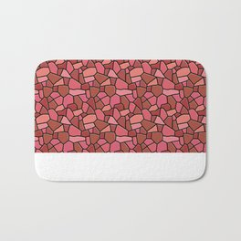 Stained Glass Red Bath Mat