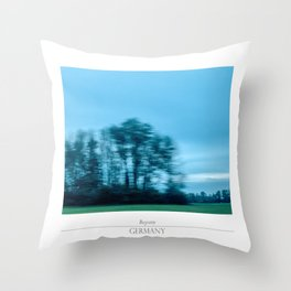 On the road, modern travelling landscape photography. Throw Pillow