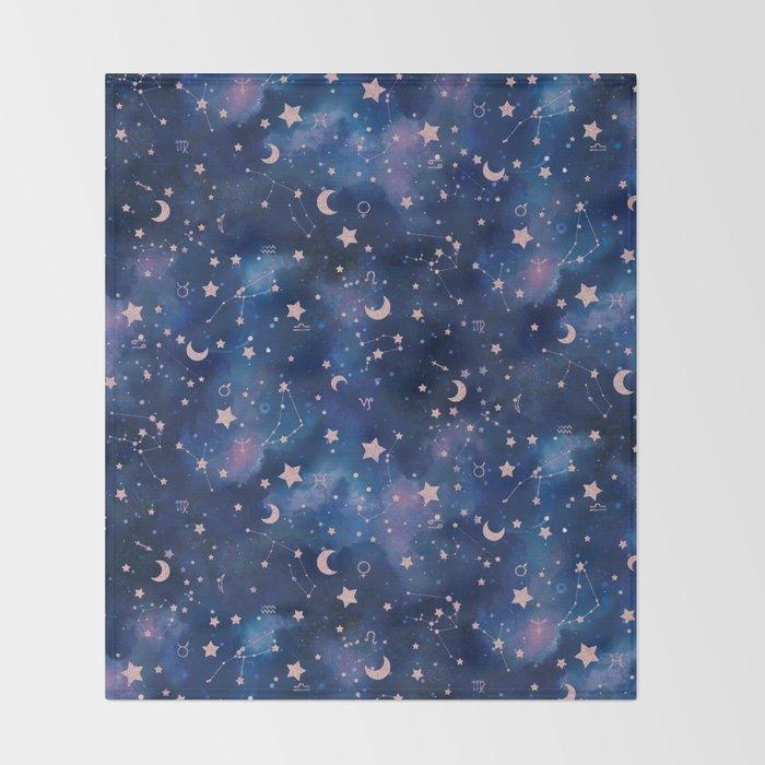 Zodiac - Watercolor Throw Blanket