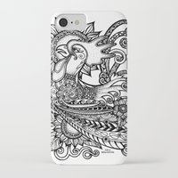 rooster iPhone & iPod Cases featuring Rooster by MotherSpoon