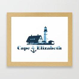 Cape Elizabeth. Framed Art Print