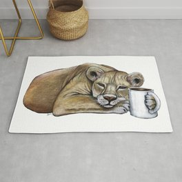 """""""Lazy Lioness"""" - Java Jungle collection Rug"""
