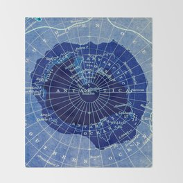 South Pole Neon Map Throw Blanket