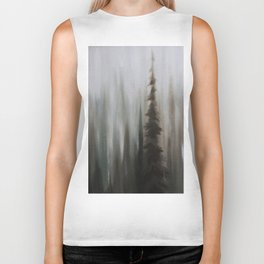 Pacific Northwest Forest oil painting by Jess Purser Biker Tank
