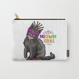Cat Mardi Gras Meowdi Gras Funny Kitten Kids BoysTShirt gift Carry-All Pouch