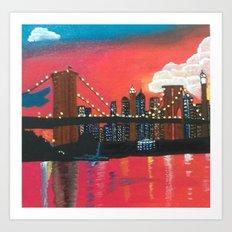 NYC in Twilight Art Print
