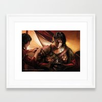 "martell Framed Art Prints featuring Oberyn Martell ""A Song of Ice and Fire"" ( A Game of Thrones ) by Magali Villeneuve"