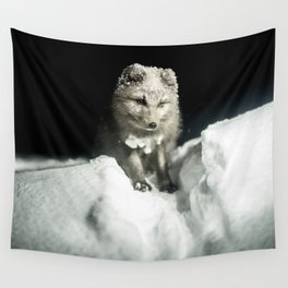 Baby wolf in the snow #animal #photography Wall Tapestry