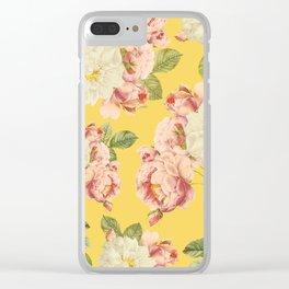 Flora temptation - sunny mustard Clear iPhone Case