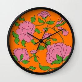 My little Peony Wall Clock